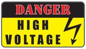 Elektrycznego zagrożenia woltażu Wysoki znak Obrazy Royalty Free