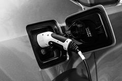 Elektrycznej prymki elektryczny ładunek BMW i3 Zdjęcie Royalty Free