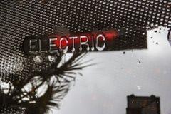 elektrycznej użyteczności manhole pokrywa w Charleston Południowa Karolina zdjęcie stock