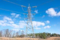 Elektrycznej władzy infrastruktura Fotografia Royalty Free
