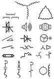 elektrycznej władzy symbole Obrazy Stock