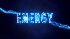 Elektryczni animowani słowa jak elektryczny, władza i energia, royalty ilustracja