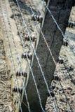 Elektryczni barbed druty Niemiecka nazistowska koncentracja i eksterminacja obozują zdjęcia royalty free