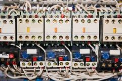 Elektryczni druty łączący liczący luzowania zdjęcia royalty free