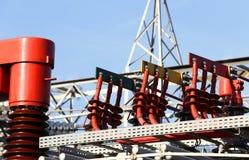 Elektryczni miedziani terminale elektrownia produkować elektrycznego Obrazy Royalty Free