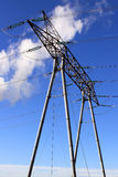Elektryczni pilony Fotografia Royalty Free