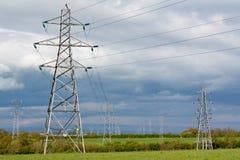 Elektryczni pilony zdjęcia stock
