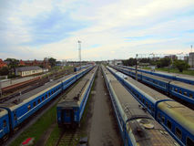 elektryczni pociągi Obraz Stock