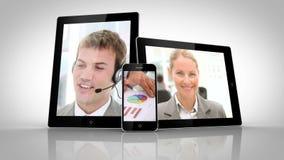 Elektryczni przyrząda pokazuje różnych ludzi biznesu zbiory wideo