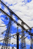 elektryczni słupy Zdjęcia Royalty Free