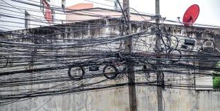 Elektryczni słupy w Tajlandia Zdjęcie Stock