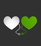 Elektryczni serca Obrazy Stock