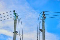 Elektryczni wysocy woltaży lonty fotografia stock