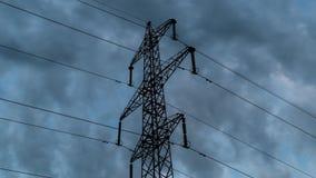 Elektryczność chmury i pilony zbiory wideo