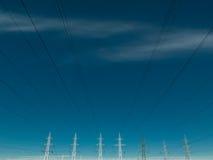Elektryczność linie energetyczne Obraz Royalty Free
