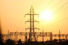 Elektryczność linie i pilony Fotografia Royalty Free