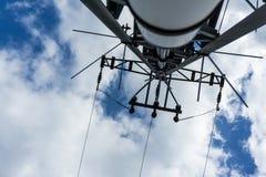 Elektryczność maszt z niebieskim niebem Obraz Stock