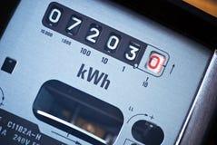 elektryczność metr Obrazy Royalty Free