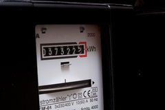 Elektryczność metr fotografia stock