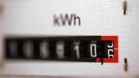 Elektryczność metr zamknięty w górę widoku z selekcyjną ostrością zbiory