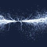 Elektryczność oświetleniowi skutki Szyk Z Dynamicznymi cząsteczkami 3d technologii futurystyczny styl Fotografia Stock