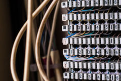 Elektryczność obwodu łamacze (topikowy pudełko) Obraz Stock