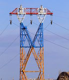 Elektryczność pilon, linia energetyczna Obrazy Royalty Free