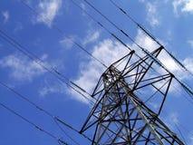 elektryczność pilonu wieży Zdjęcie Royalty Free