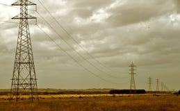 elektryczność pilony Zdjęcia Royalty Free