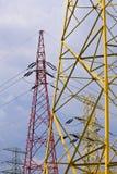 elektryczność pilony Fotografia Royalty Free