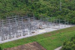 Elektryczność pilony, Tajlandia Zdjęcie Stock