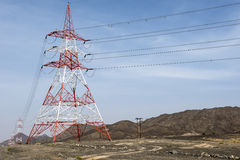 Elektryczność pustynia Zdjęcie Royalty Free