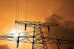 elektryczność słup Fotografia Stock