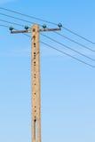 Elektryczność słup Fotografia Royalty Free