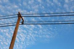 Elektryczność słup Zdjęcie Royalty Free