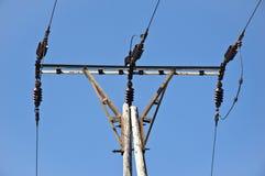 Elektryczność słupa zakończenie Fotografia Royalty Free