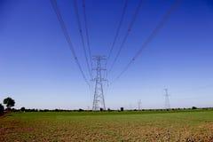 Elektryczność słupy - India fotografia stock