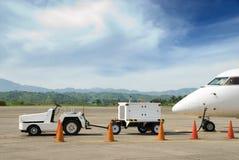 elektryczność samolotowy generator Fotografia Royalty Free