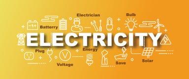 Elektryczność wektorowy modny sztandar ilustracji