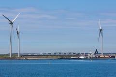 Elektryczność wiatraczek i dragowanie statki Zdjęcie Royalty Free