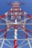 Elektryczność woltażu wysokiego pilonu perspektywiczny widok Obraz Royalty Free