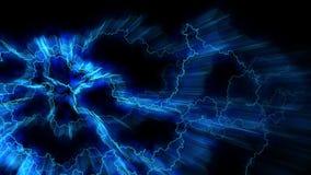 Elektryczności chrupotanie Abstrakcjonistyczny tło z elektrycznymi łukami Realistyczni uderzenia pioruna Elektryczny i pole magne zbiory wideo