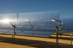 elektryczności energetycznej rośliny słoneczny thermal Obraz Stock