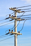 Elektryczności nieba i poczta tło Zdjęcia Royalty Free