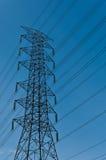 Elektryczności poczta wysokociśnieniowa jest Zdjęcia Stock