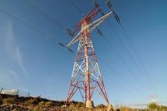 Elektryczności władzy pilon Zdjęcie Royalty Free