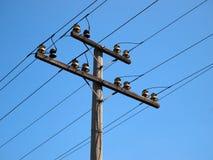 Elektryczności władzy słup Fotografia Royalty Free