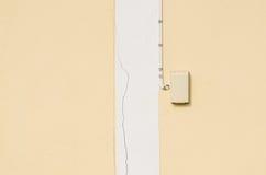 Elektryczności zmiana na ścianie Obraz Stock