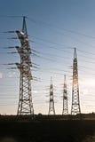 elektryczności energetyczny nieba wierza Zdjęcia Stock