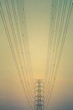 Elektryczności linia energetyczna Obrazy Royalty Free